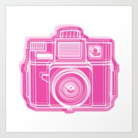 I Still Shoot Film Holga Logo - Pink Art Print