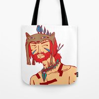 Tribal Man Tote Bag