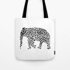 Elephant With Leopard Pa… Tote Bag