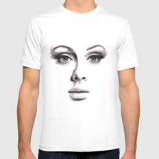 Adele  SMALL White Mens Fitted Tee