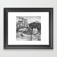 The Whale, The Castle & … Framed Art Print