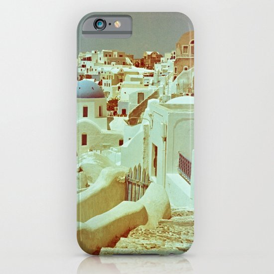 Santorini in Raspberry and Blue II: shot using Revolog 600nm special effects film iPhone & iPod Case
