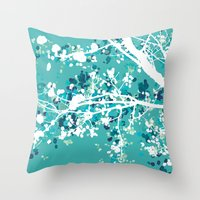 Carefree Days (mint edition) Throw Pillow