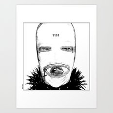 asc 424 - Le masque de la Toussaint (Trick or treat!) Art Print