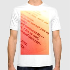 Words number 7 White SMALL Mens Fitted Tee