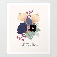 Noire Art Print