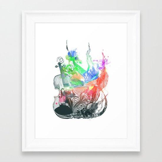 Fiddle Framed Art Print