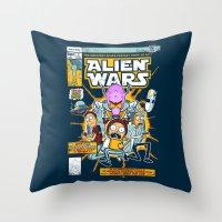Alien Wars Throw Pillow