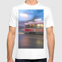 Steel in Motion Mens Fitted Tee White SMALL