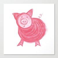 Little Piggy! Canvas Print