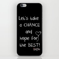 Let's take a chance iPhone & iPod Skin