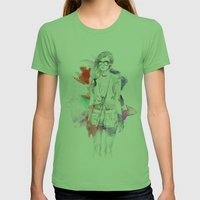 Top Shop Runway Womens Fitted Tee Grass SMALL