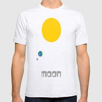 The Moon in Minimal Mens Fitted Tee Ash Grey SMALL