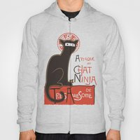 A French Ninja Cat (Le Chat Ninja) Hoody