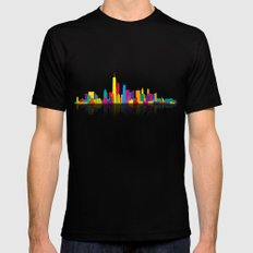 New WTC Skyline Mens Fitted Tee Black SMALL