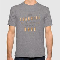 Be Thankful Mens Fitted Tee Tri-Grey SMALL