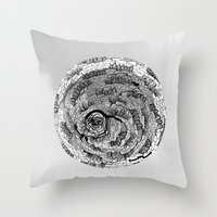 there is something in grey Throw Pillow