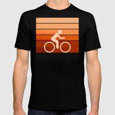 Biking Orange SMALL Black Mens Fitted Tee