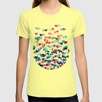 Heart Connections - watercolor painting Womens Fitted Tee Lemon SMALL