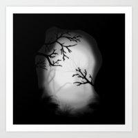 Dark paysage Art Print