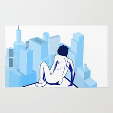 Me against the city Rug