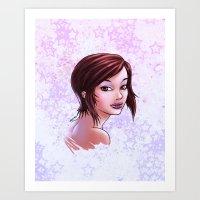 Lips & Stars Art Print