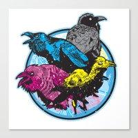 CMYK BIRDS Canvas Print