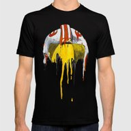 Orange Living Room 2 Mens Fitted Tee Black SMALL