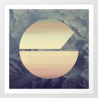 order, balance, rhythm & harmony Art Print