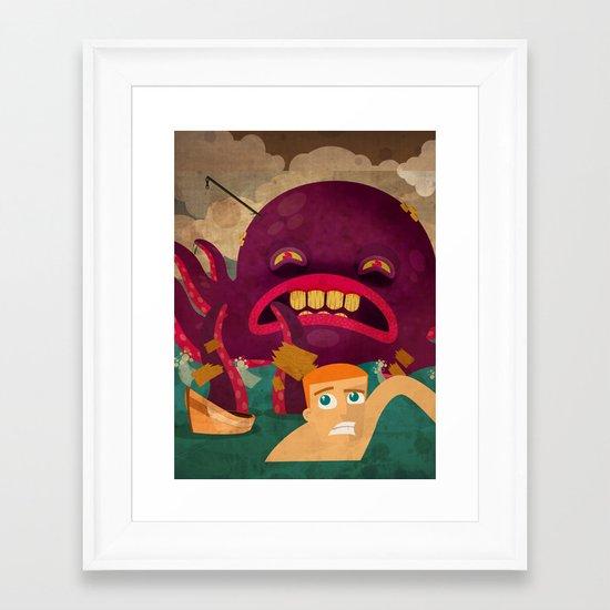 giant octopus Framed Art Print