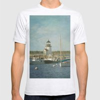 Welcome to Nantucket Mens Fitted Tee Ash Grey SMALL