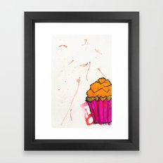 Cupcake. Framed Art Print
