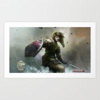 Legend Of Zelda 25th Ann… Art Print