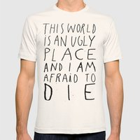 THIS WORLD Mens Fitted Tee Natural SMALL