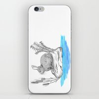 Rabbit in an island iPhone & iPod Skin