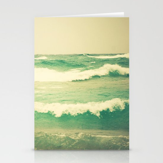 Sea Glass Stationery Card
