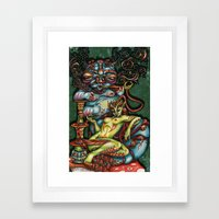 Mentalice and the Caterpillar Framed Art Print