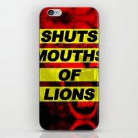 SHUTS MOUTHS OF LIONS (D… iPhone & iPod Skin