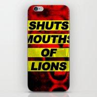 SHUTS MOUTHS OF LIONS (Daniel 6:22) iPhone & iPod Skin