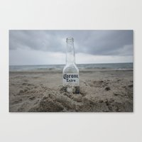 Corona On The Beach Canvas Print