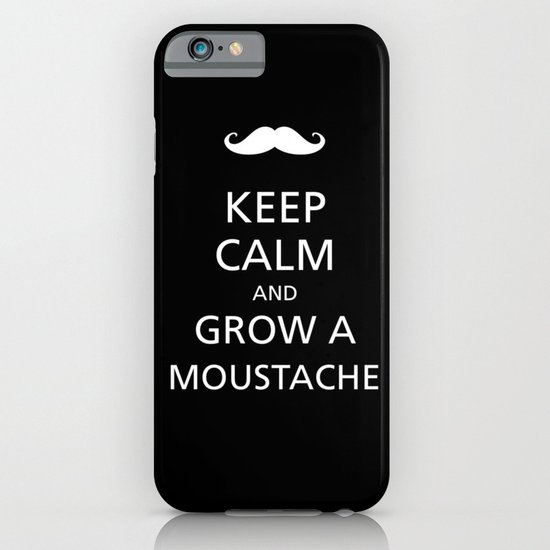 Keep calm and grow a moustache iPhone & iPod Case