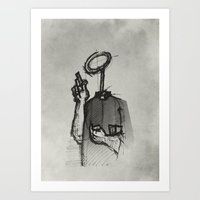 Trust With No Head And H… Art Print