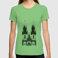 Tyn Church - Prague Womens Fitted Tee Grass SMALL