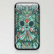 Calavera Cat iPhone & iPod Skin