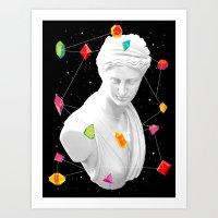 Geometric Gods II Art Print