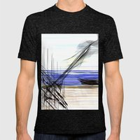 At Sea Mens Fitted Tee Tri-Black SMALL