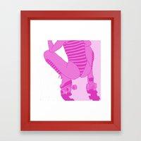 ROLLER GIRL Framed Art Print