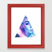 Technicolor Triangle Sh*t Framed Art Print