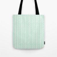 Herringbone Mint Tote Bag