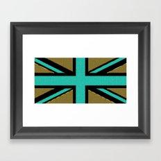 Glittery Union Jack Framed Art Print